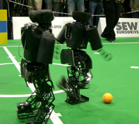 RoboCup German Open 2008: NimbRo kicking