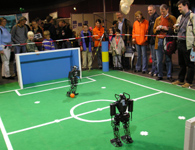 NimbRo KidSize Soccer robots at the Science Days 2006.