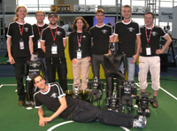 Team NimbRo with robots and Tropies