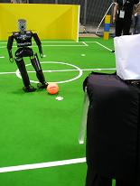 Teensize robots during penalty kick.